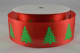 CR Ribbon: Red with Green Christmas Trees 40mm